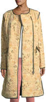Isabel Marant Geist Floral-Print Zip-Front Quilted Twill Coat