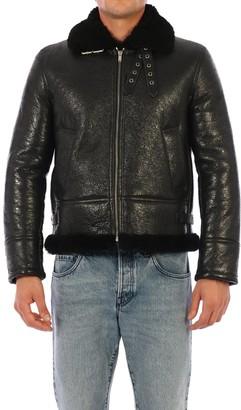 Saint Laurent Zip Up Aviator Jacket