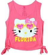 Hello Kitty Florida Too Cool Juniors Summer Beach Tank T-Shirt Womens' , Adult Size XL