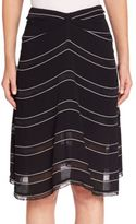 Proenza Schouler Gathered Striped Skirt