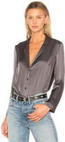 Amanda Uprichard Yvonne Top in Charcoal. - size L (also in M,S,XS)