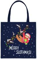 Forever 21 Christmas Sloth Graphic Canvas Tote