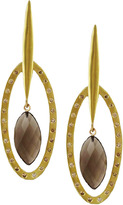 "Joan Hornig Matisse"" Smoky Topaz Drop Earrings"