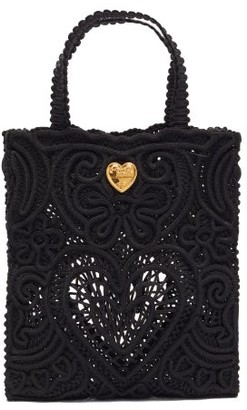 Dolce & Gabbana Beatrice Small Cordonetto-lace Tote Bag - Black