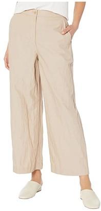 Eileen Fisher Wide Leg Ankle Pants (Bramble) Women's Casual Pants