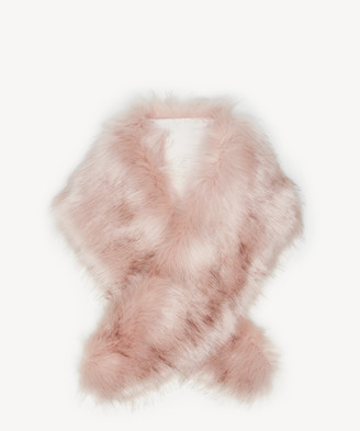Sole Society Women's Faux Fur Stole Blush One Size Polyester From