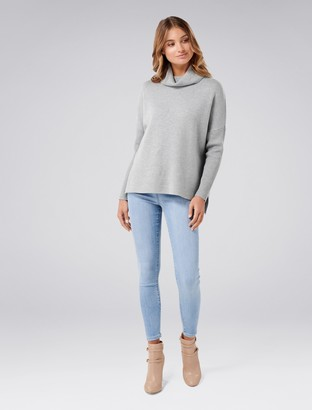 Forever New Jazmine Roll Neck Jumper - Mid Grey - xxs