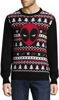 NOVELTY SEASON Novelty Season Crew Neck Long Sleeve Deadpool Cotton Blend Pullover Sweater
