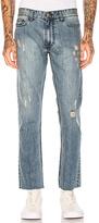 Calvin Klein Slim Logo 5 PKT Frayed Jeans