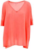 Minnie Rose Cashmere Short Sleeve Boyfriend - 16936