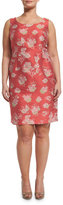 Marina Rinaldi Downtown Floral-Print Sheath Dress W/ Attachable Sleeves, Plus Size
