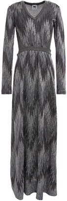 M Missoni Metallic Crochet And Open-knit Maxi Dress