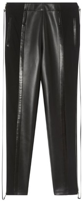 Burberry Faux Leather Zip-Detail Leggings