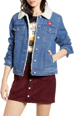 Dickies Faux Shearling Lined Denim Jacket