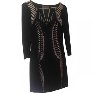 Karen Millen Black Cotton - elasthane Dress for Women