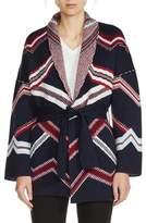 Maje Women's Belted Kimono Cardigan