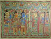 Madhubani painting, 'The Wedding'