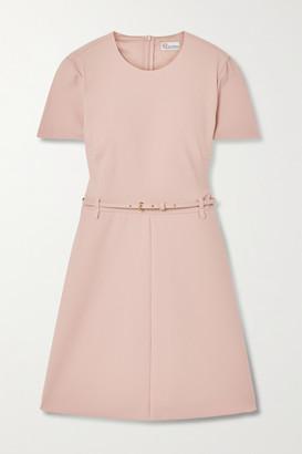 RED Valentino Belted Crepe Mini Dress - Blush