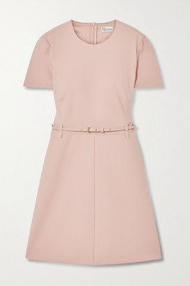 RED Valentino Belted Crepe Mini Dress - Blush