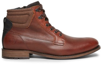 Steve Madden Vibes Brown/Red Leather