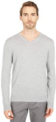 J.Crew Everyday Cashmere V-Neck Sweater (Heather Grey) Men's Clothing