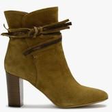 Lamica Khaki Suede Ankle Strap Boots