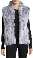 Adrienne Landau Textured Fur Vest