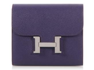 Hermes Constance Purple Leather Wallets