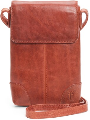 Frye Melissa Leather Crossbody Phone Wallet