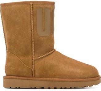 UGG round toe printed logo boots