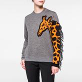 Paul Smith Women's Grey Merino Wool Giraffe-Sleeve Sweater