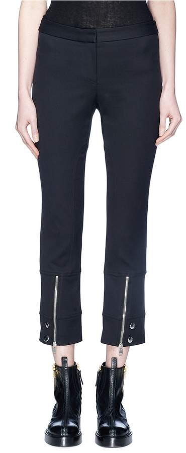 Alexander McQueen Zip panelled cuff cropped suiting pants
