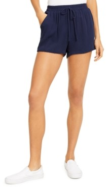 BeBop Juniors' Solid Pom Pom Shorts