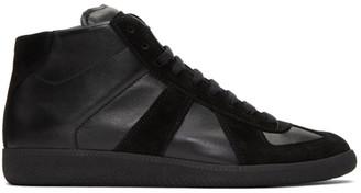 Maison Margiela Black Replica High-Top Sneakers