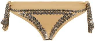 Norma Kamali Studded Bikini Bottoms