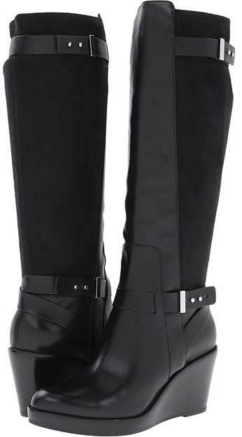 Cole Haan Fulton Wedge Boot (Black) Women's Boots