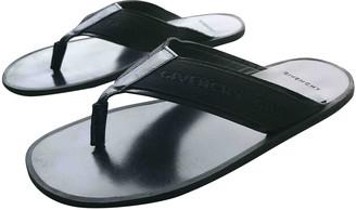 Givenchy Black Cloth Sandals