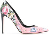 Alexander McQueen floral print pumps - women - Calf Leather/Leather - 41