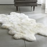 Crate & Barrel Sheepskin Ivory Throw/Rugs