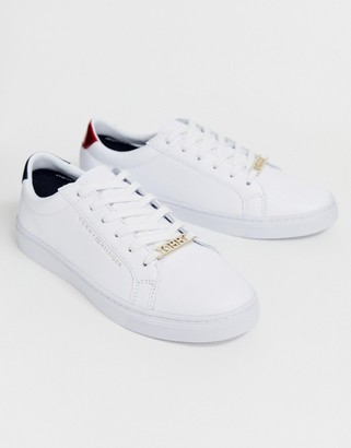 Tommy Jeans classic logo leather lace up trainers