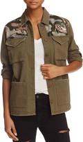 Aqua Sequined Camo Military Jacket - 100% Exclusive
