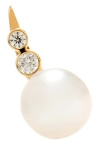 Sophie Bille Brahe Lulu Des Etoiles 14kt Gold Pearl And Diamond Left Single Earring