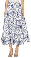 Marchesa Cotton Print Textured A Line Skirt