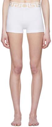 Versace Underwear White Medusa Boy Shorts