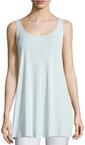 Eileen Fisher Long Silk Jersey Tunic, Green Mint, Plus Size