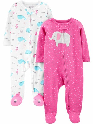 Simple Joys by Carter's 2-pack Cotton Footed Sleep and Play Baby and Toddler Sleepers