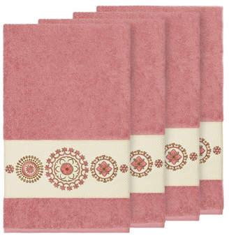 Isa Belle Linum Home Isabelle 4-Pc. Embroidered Turkish Cotton Bath Towel Set Bedding