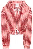 Rosie Assoulin Hoodie crinkle-gingham cropped jacket