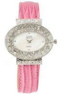 Eton Chic Diamante Pink Leather Strap Watch - 2754J-5