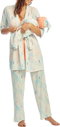 Everly Grey Analise During & After 5-Piece Maternity/Nursing Sleep Set